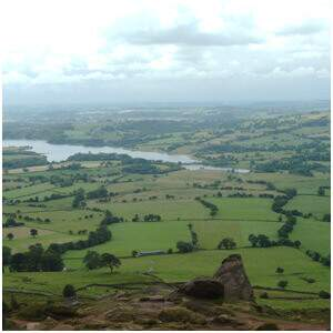 Our tea room offers views over the Roaches and Peak District