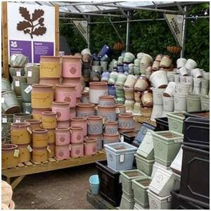 A large range of pots and containers are available