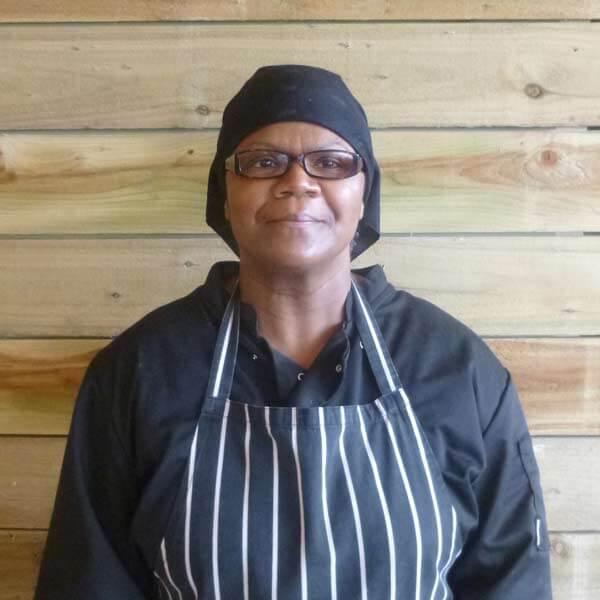 Kitchen assistant Yvonne