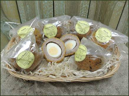 Local Speciality Scotch Eggs at Jacksons Nurseries Farm Shop