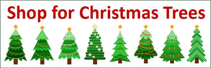 Shop for Christmas tree banner