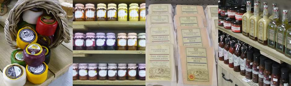 Se stock a great range of cheeses, chutneys, jams and sauces