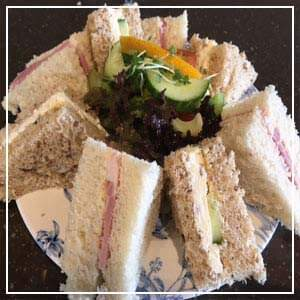 Our selection of sandwiches with the afternoon tea