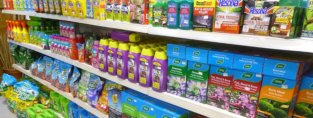Staffordshire Garden Centre - Chemicals & Fertilisers