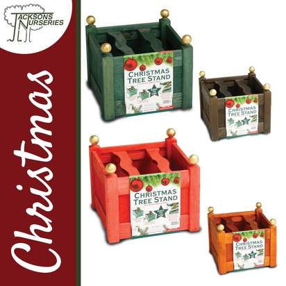 Buy Wooden Christmas Tree Stands online from Jacksons Nurseries